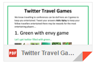 Twitter Travel Card