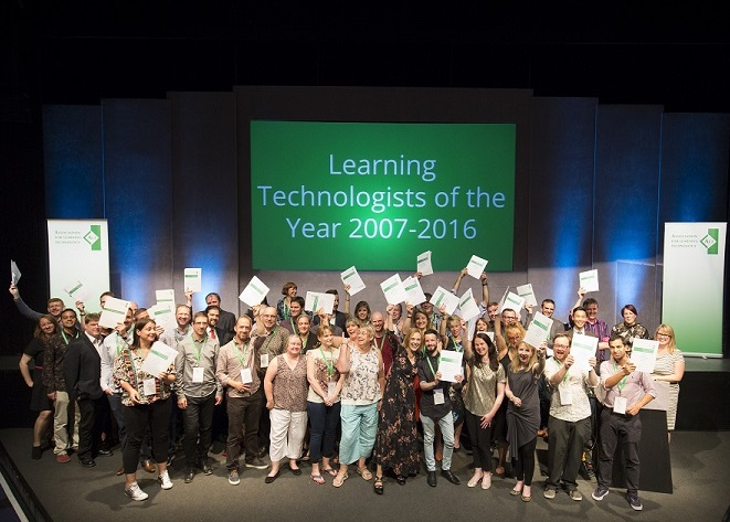 Image of the Learning Technologist of the Year Award 2016