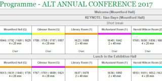 Picture of conference programme