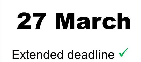 Deadline for submissions extended to 27 March