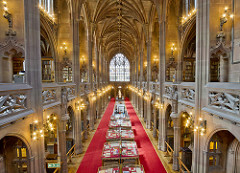 The interior of The John Rylands Library
