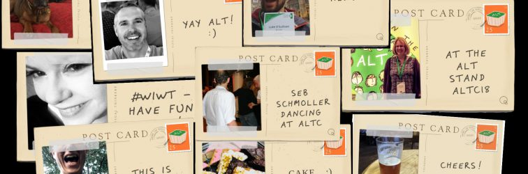 Send a postcard to celebrate 25 years of ALT #altc