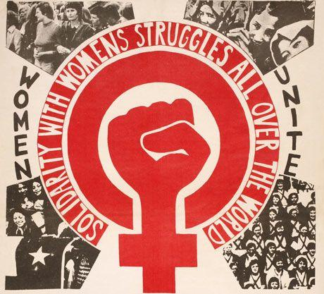 Women's Day March poster from the Womens Liberation Workshop in London