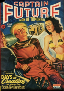 Captain Future (1944) by Better Publications. Cover by Earle K.