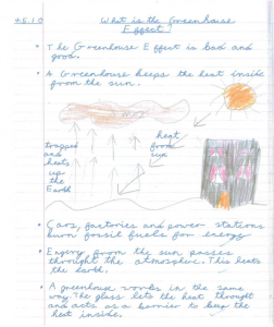 Samples of Student Work: Example 1