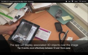 Screenshot from video showing the SCARLET app in use