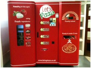 Photo of pizza vending machine at SOAS