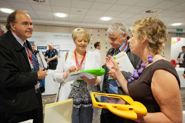 Myerscough College delegates enjoy trying out the latest exhibitor technology