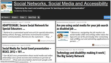 Shirley Evan's Scoop.it! page on Social Networks, Social Media and Accessibility