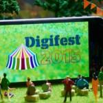 Jisc Digital Festival - big screen