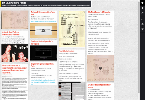 Padlet wall created by students for DIY Digital project