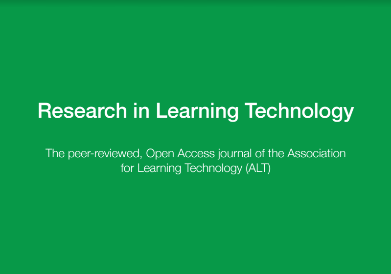 getting published in research in learning technology    altc blog