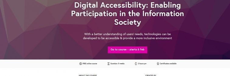 A Review of the Digital Accessibility FutureLearn Course