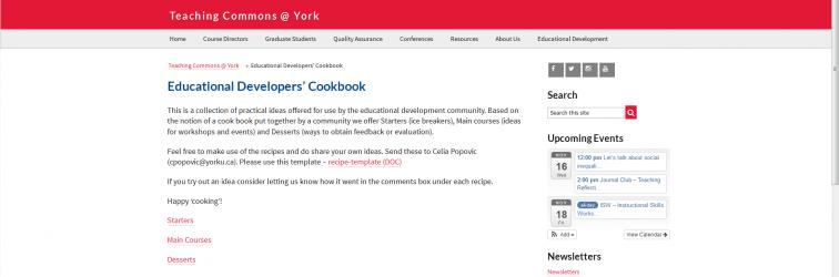 Educational Developers Cookbook