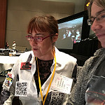 Viv and David virtually connecting via @cogdog CC BY