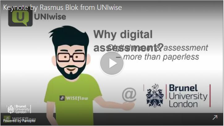 Keynote by Rasmus Blok of UNIwise