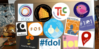Laptop and stickers