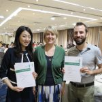 Maren Deepwell (centre) with Arinna Nga Ying Lee and Seth Neeley