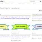 Screen shot of Mahara portfolio