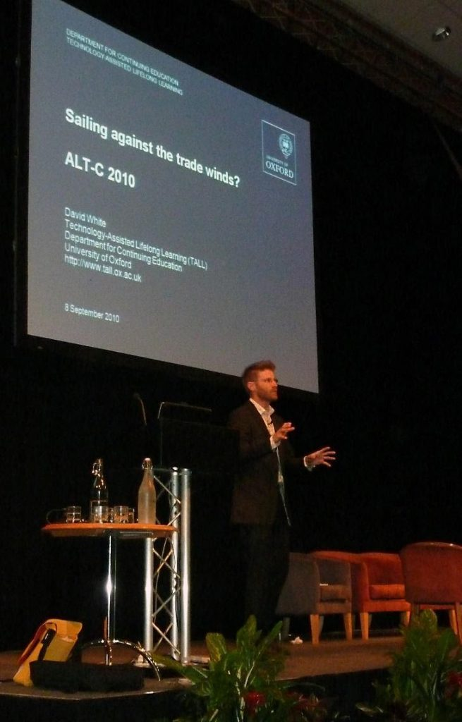 Dave White on stage at the 2010 ALT Conference