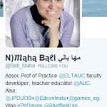 Maha Bali on twitter