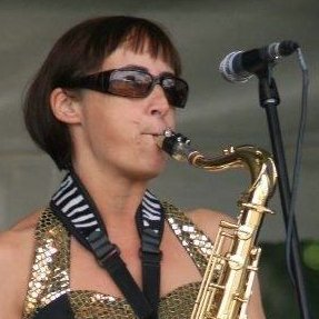 Viv playing sax