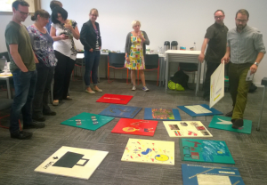 PLSIG members play-testing a healthcare game in development
